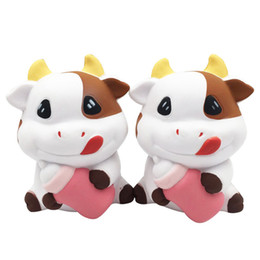 Chinese  5pcs kawaii Squishy Jumbo 11.5cm White Milk Bottle Dairy Cow Squishy Slow Rising Unpack the toy Squeeze Phone strap Squish manufacturers
