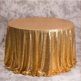 $enCountryForm.capitalKeyWord NZ - Great Gatsby Custom Made Round Sequined Wedding Accessories For Tables and Chairs Several Colors High Quality Wedding Decorations 3M