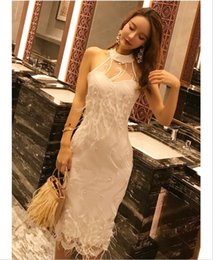 white celebrity bodycon dresses NZ - New Elegant Celebrity Evening Dress White Lace Feathers Fashion Sexy Sleeveless Summer Dresses Women's Bodycon Dresses