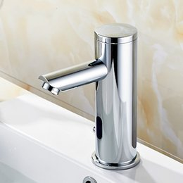 Automatic Inflrared Sensor Hand Touch Tap Hot Cold bathroom Sink Faucet Chrome Polished Bathroom Sensor Faucet Mixer on Sale
