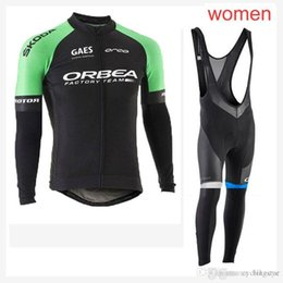 e452e741f ORBEA team Cycling long Sleeves jersey (bib) pants sets women hot Bicycle  Clothes Suit Breathable mtb Bike Ropa Ciclismo C2104