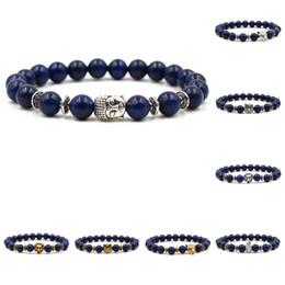 Reiki Healing Wholesalers Australia - Natural Stone Lapis Lazuli Bracelet Prayer Yoga Chakra Beads Bracelet Reiki Healing Meditation Energy Bangle Mens Bracelets