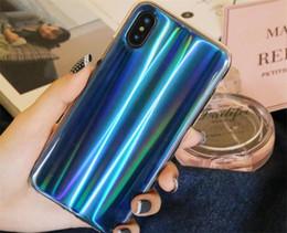 Роскошный блеск телефон Case для IPhone X прохладный лазерный блестящий Case для Iphone 8 7 6 6 S Plus мягкий TPU силиконовый чехол