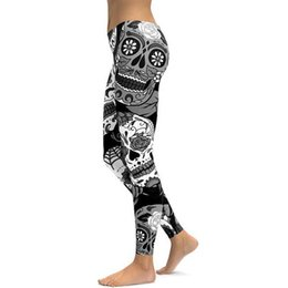 wholesale plus size tights leggings UK - 3D pants printed women yoga leggings plus size XXXL 4XL elastic fitness gym clothes butt workout trousers Sport running Tights