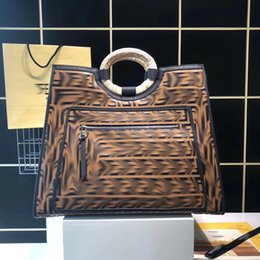 Best Brand leather purses online shopping - AAA Fendy brand lady designer bags fashion shopping bags genuine leather luxury women famous purse Best quality with logo