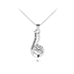 wholesale mum charms UK - Love Mum Forever Metal Alloy Rhinestone Necklace Silver Plated Pendant Necklace Mother's Day Gift