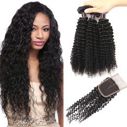 Best kinky curly hair Bundles online shopping - Peruvian Human Hair Wefts Best A Brazilian Hair Human Hair Bundles With Closure Kinky Curly bundles With Closure