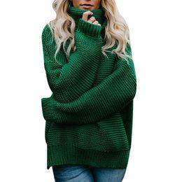 02e79a98b8f8 2018 Autumn Winter Turtleneck Sweater Women Warm Knitted Pullover Korean  Ladies Loose Oversized Sweaters Tops Jumper Knitwear