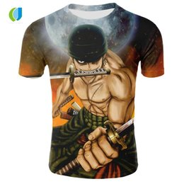 Best Wholesale T Shirts NZ - Summer best-selling brand men's T-shirt casual T-shirt men's anime One Piece 3D printing round neck short-sleeved