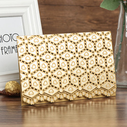 lace invitation card designs 2019 - 2018 New Design Invitation Cards With Lace Patterns Hearts Foil Embossing Hollow Personalized Laser Cut Wedding Invitati