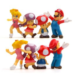 Super mario broS figureS online shopping - 8pcs set Super Mario Bros quot action figures Mario Luigi Mushroom Toad Princess Action Figure Super Mario yoshi PVC For Kid toys