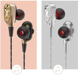 Motion Games Australia - High quality in-ear double-motion running game music headset wire control fever HIFI headset + luxury packaging