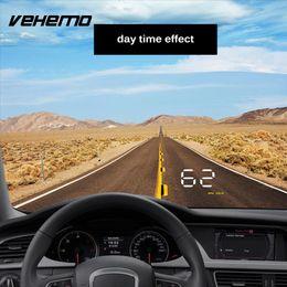 head hud 2019 - wholesale 3.5 Inch LED Screen Auto Dashboard HUD Dashboard HUD Display OBD HUD Head Up Display Navigation Car Warning Sp