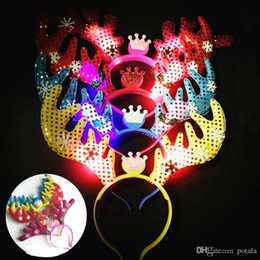 Glow Party Decorations Australia - LED Glowing antler Headband Shinning Hairband Party Rave Toy luminous flashing Hairpin For Halloween Xmas birthday Cheer Up Head Bands favor