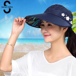6162e1c6ade65 Women Summer Sun Hats Pearl Foldable Sun Visor Hat With Big Heads Wide Brim  Beach Hat Uv Protection Female Cap 2018 New PSG0131