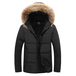 1f8a1adcd8d 2018 Thicken Warm Winter Duck Down Jacket for Men Fur Collar Parkas Hooded Coat  Plus Size Overcoat Western Style M-7XL 8XL 9XL