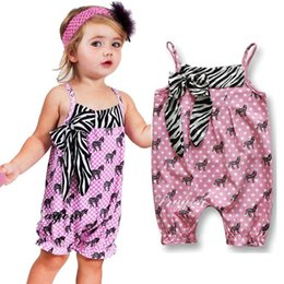 Beautiful Infants NZ - Baby Kids Clothing Baby Girl Zebra Rompers suspenders Baby jumpsuits Beautiful Rainbow Infant Sleeveless Leopard Romper Kids Clothes