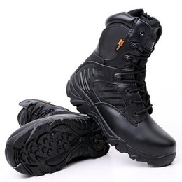 Chinese  New Army Boots Men's Genuine Leather Snow Boots Shoes Outdoor Tactical Military Men Desert Combat Boots Botas Militares manufacturers