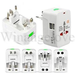 Iphone International NZ - Universal US AU EU UK International Plug Adapter 2USB port All In One AC Power Travel Adapter