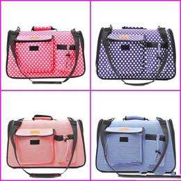 Bags Carry Puppies Australia - Foldable Pet Handbag Stripe Cat Dog Carrying Ventilation Puppy Bag For Outdoor Travel Single Shoulder Round Dot Design 33za2 ii