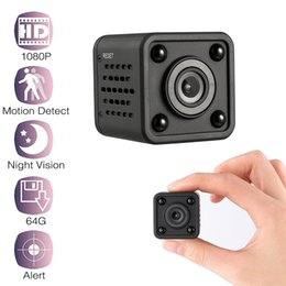 smallest hd wifi camera Canada - Mini WiFi camera 1080P HD Remote playback video small micro cam Motion Detection Night Vision Home Monitor 64G mini camcorder