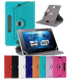 Wholesale Universal Tablet PC Case Degree Rotating Case PU Leather Stand Cover inch Fold Flip Covers Built in Card for New Ipad