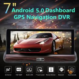Gps Hd Australia - 7 Inch HD Car DVR GPS Dual Lens Navigation Rear View Dash Camera Recorder 3G + Wifi