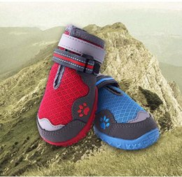 Chinese  Small Medium Large Sizes Outdoor Dog Shoes For Sports,Pets Shoes For Dogs Mountain Wearable Non-slip Soles Waterproof Reflective manufacturers