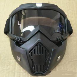 f5750f64ad561 Vendas Hot Modular Máscara Destacável Óculos E Boca Filtro Perfeito para o Rosto  Aberto Da Motocicleta Meio Capacete ou Capacetes Do Vintage
