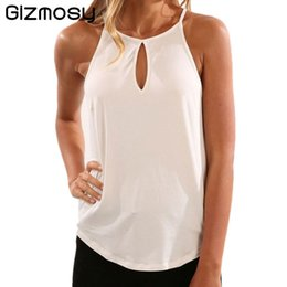 cropped tees Australia - Women Summer Tank Tops Casual Strap Sleeveless Top Tees Vest Cropped Sexy Hollow Out BN3780