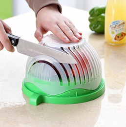 $enCountryForm.capitalKeyWord Australia - Salad Cutter Bowl Vegetable Fruits Slicer Chopper Washer And Cutter Easy Quick Salad Maker Kitchen Tool