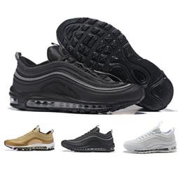 finest selection 937fb 0682a N09-3 Nike Air max 97 basketball shoes Triple blanco negro rosa Casual Shoes  Og Metallic Gold Silver Bullet Zapatillas para hombre Mujer Zapatos  zapatillas ...
