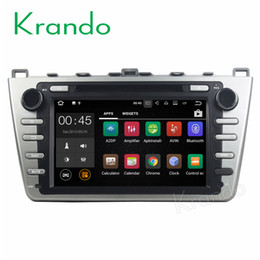 """China Krando 8"""" Android 7.1 car dvd audio radio gps dvd navigation multimedia system for Mazda 6 2008-2012 palyer WIFI 3G DAB+ suppliers"""