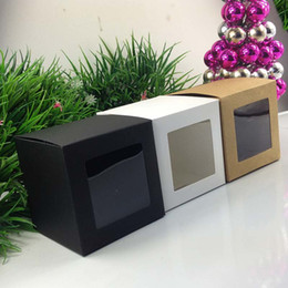 Wholesale cm Black Window Box Packing Custom Gift Boxes Candy Cake Soap Cookie Cupcake Display packaging Box
