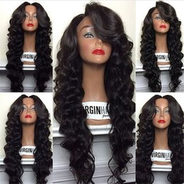 "Silk Base Baby Hair Australia - Brazilian Human Hair Silk Top Full Lace Wig Body Wave Glueless Lace Front Human Hair Wigs 5*4.5"" Silk Base With Baby Hair"