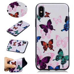 Pineapple Gel NZ - For Iphone X 8 7 Plus 6 6S SE 5 5S Relief Flower Soft TPU Case Butterfly Pineapple Feather Cat Cartoon Cute Silicone Gel Clear Cover Skin