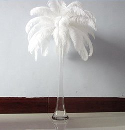 Feather Party Decorations Blue Australia - 50 Pcs Beautiful Natural Ostrich Feathers 35 To 40 Cm  14 To 16 Inches Turquoise Blue Feather for Payty Decorations