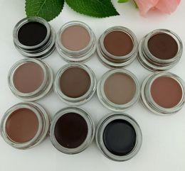 Опт Новейшие водостойкие брови Pomade для бровей для макияжа 11 цветов с розничной упаковкой Мягкий средний Темно-пепельно-коричневый шоколадный карамель