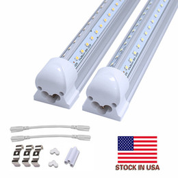 Discount integrated 4ft tube - Integrated LED Tube 4FT 5FT 6FT 8FT LED T8 55W 72W LED Tube Light V Shape Fluorescent Tubes Lights