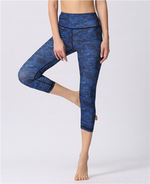 capri pants NZ - Women Super Elastic Cropped Trousers Digital Print Sport Yoga Capri Pants Fitness Gym Leggings Running Riding Exercise Workout Tights Capris