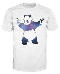 Chinese  Banksy Panda Bear Space Swag Fashion Urban Art T-shirt Short Sleeve Plus Size t-shirt manufacturers