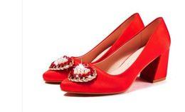 $enCountryForm.capitalKeyWord NZ - Free send 2018 red brides with high heel Coarse heel wedding shoes new style shoes heel 5cm,7cm