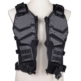 tactical combat vest black 2019 - Outdoor Hunting Vest Game Tactical Vest Combat Body Black And Tan Color Armor Waistcoat cheap tactical combat vest black