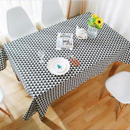 $enCountryForm.capitalKeyWord Australia - Tablecloth Cotton Linen Rural Square Tablecloths Rectangular Dinner Table Cover Table Cloth Coffee Table Home Textile(black gray)