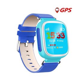 Digital Wrist Gps Canada - Q80 Kids GPS Tracker Safe Smart Watch Location Device SOS Call Anti Lost kids digital watch for IOS Android Q50 new smart watches DHL