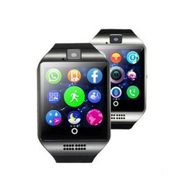 Bluetooth Smart Watch Sim Australia - Q18 Bluetooth Smart Watch Support SIM Card NFC Connection Health Smartwatches For Android Smartphone with Retail Package free DHL shipping
