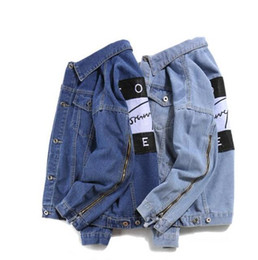 China fashion casual Brand jeans women tops spring and autumn harajuku summer t shirts Sweatsh men womens clothing denim jacket cheap jeans jacket shirt suppliers