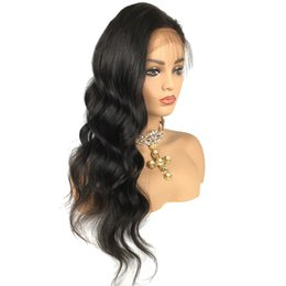 $enCountryForm.capitalKeyWord UK - Deep Part Lace Front Wig Human Hair Wig Wavy Natural Wave 150% Density Brazilian Virgin Hair Pre-plucked Natural Hairline Bleached Knots