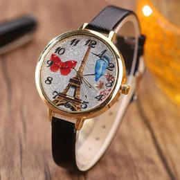 $enCountryForm.capitalKeyWord NZ - Women Personalized Quartz Watches Paris Tower Design Fashion Strap Watch Ladies Fine Bracelet Watches 8 Colors