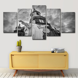 Art Church Australia - Canvas Paintings Living Room Wall Art 5 Pieces Christ Jesus Church Pictures HD Prints Christianity Posters Home Decor